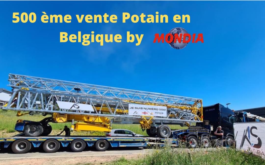 Livraison 500 ème Potain en Belgique